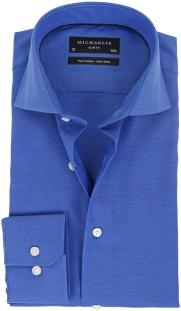 Michaelis Overhemd Slim Fit Blauw
