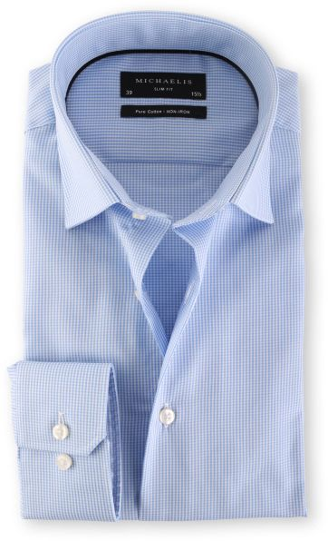 Michaelis Overhemd Slim Fit Blue Check
