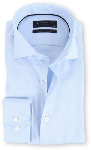 Michaelis Overhemd Slim Fit Blue Dessin