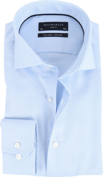 Michaelis Overhemd Slim Fit Blue Dessin