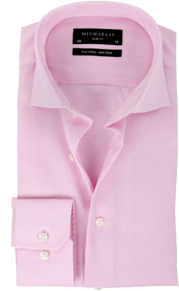 Michaelis Overhemd Slim Fit Pink