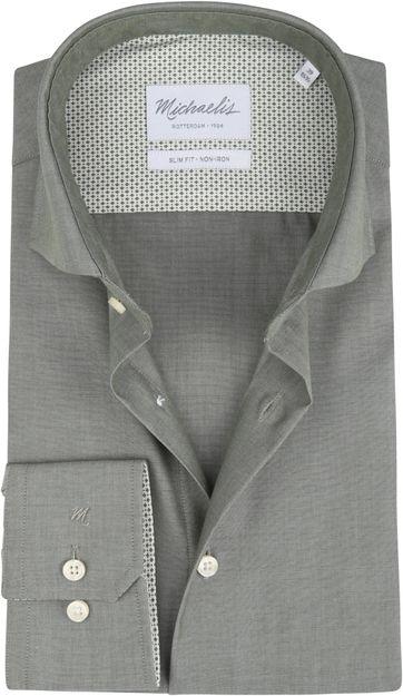 Michaelis Overhemd Strijkvrij Uni Groen
