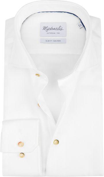 Michaelis Overhemd Strijkvrij Wit