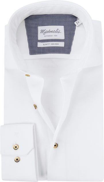 Michaelis Overhemd Twill Strijkvrij Wit