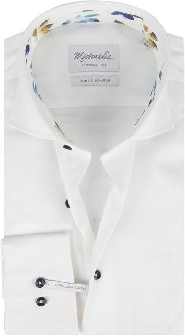 Michaelis Overhemd Twill Wit SL7