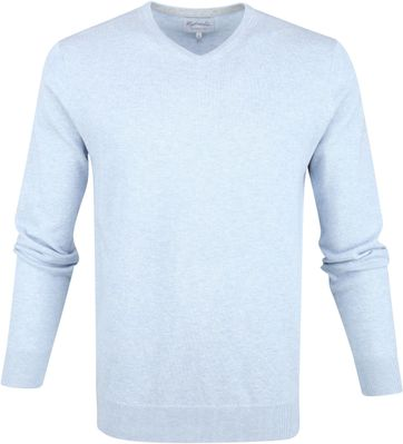 Michaelis Pullover Light Blue V-Neck
