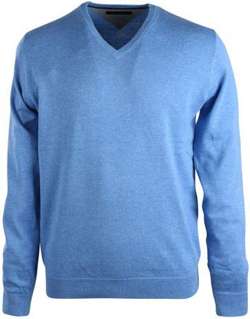 Michaelis Pullover V-Hals Lichtblauw