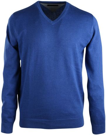 Michaelis Pullover V-Neck Blue