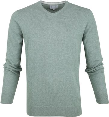 Michaelis Pullover V-Neck Green