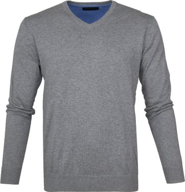 Michaelis Pullover V-Neck Grey