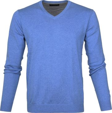 Michaelis Pullover V-Neck Light Blue