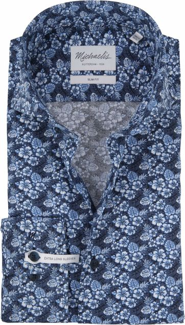 Michaelis Shirt Hawaii SL7 Navy