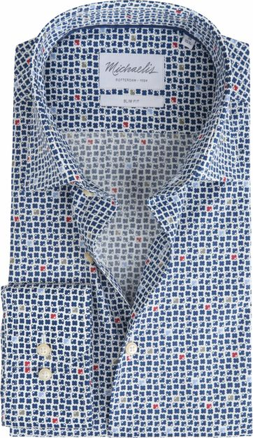 Michaelis Shirt Non-Iron Dessin Navy