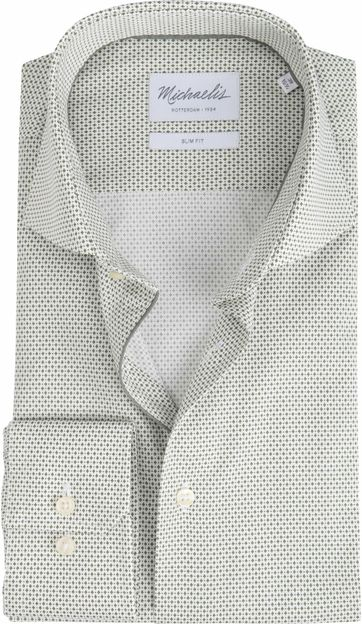 Michaelis Shirt Non-Iron Dessin Olive