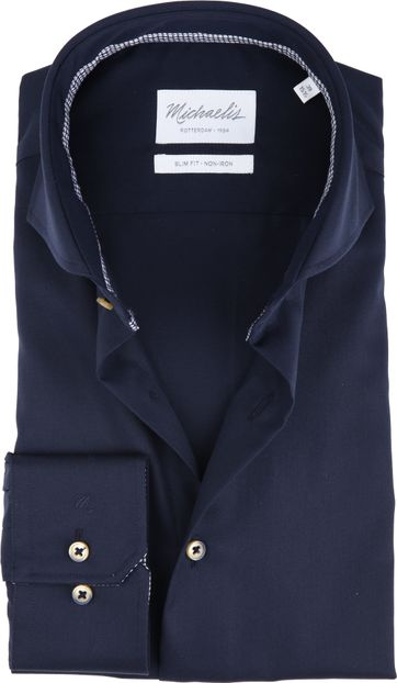 Michaelis Shirt Non-Iron Uni Blue