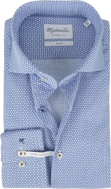 Michaelis Shirt Poplin Blue SL7