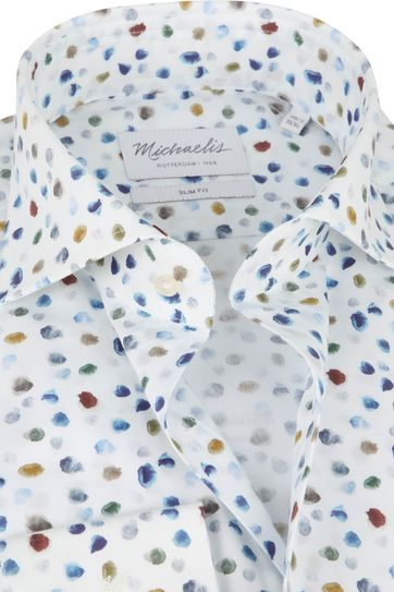 Michaelis Shirt Poplin White Dots SL7