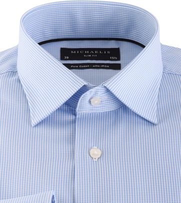 Michaelis Shirt Skinny Blue Check