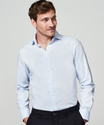 Michaelis Shirt Skinny Blue Dessin