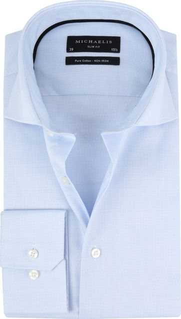 Michaelis Shirt Slim Fit Blue Dessin