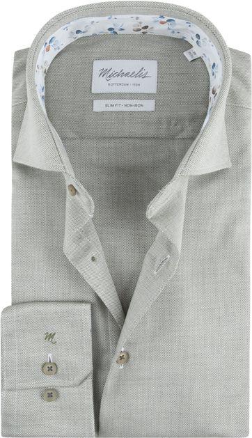 Michaelis Skinny Hemd Oxford Groen