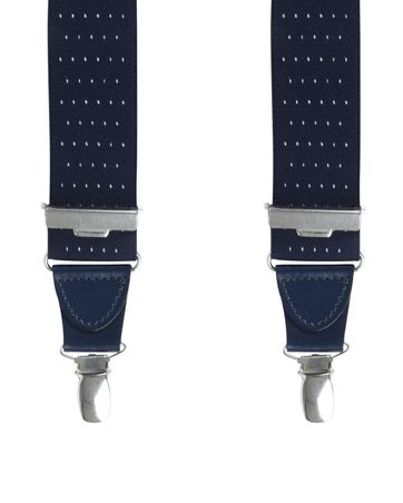Michaelis Suspenders Dots Dark Blue