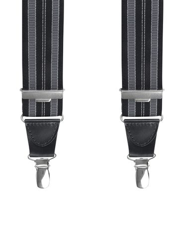 Michaelis Suspenders Stripe Black Grey