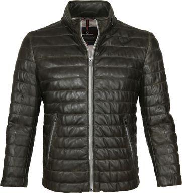 Milestone Tereno Leather Jacke Dunkelgrün