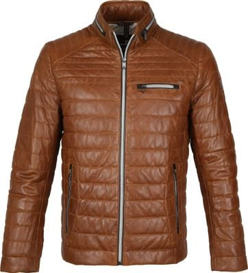 Milestone Terenzio Leather Cognac Jacket