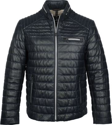 Milestone Terenzio Leather Dark Blue Jacket