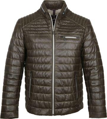 Milestone Terenzio Leather Dark Green Jacket