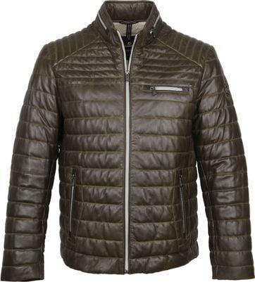 Milestone Terenzio Leather Dunkelgrün Jacke