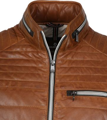Milestone Terenzio Leather Jack Cognac