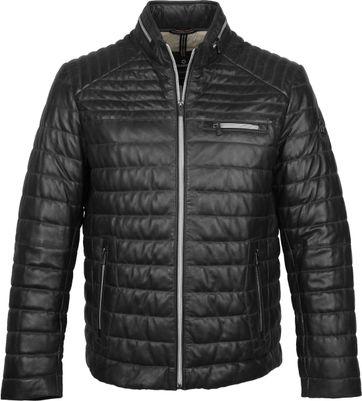 Milestone Terenzio Leather Schwarz Jacke