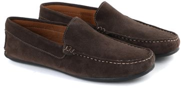 Mocassin Suede Dark Brown