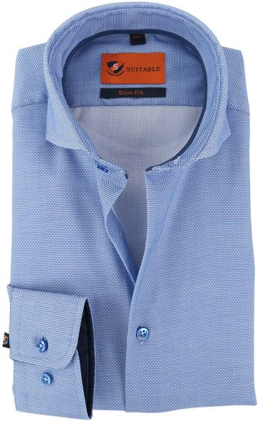 Mouwlengte 7 Overhemd Blauw 150-3