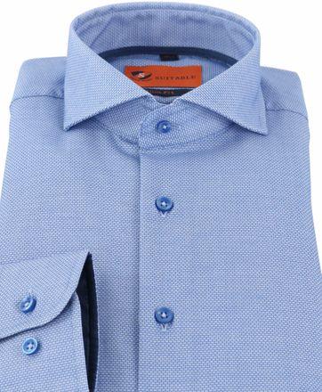 Detail Mouwlengte 7 Overhemd Blauw 150-3