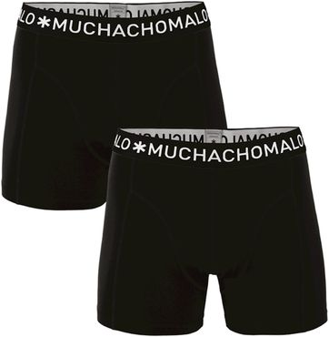 Muchachomalo Boxer Shorts 2-Pack Solid Black