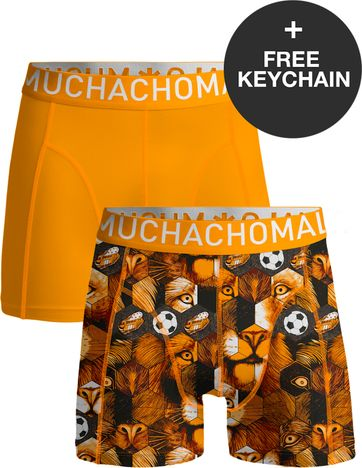 Muchachomalo Boxershorts 2-Pack Orange Football