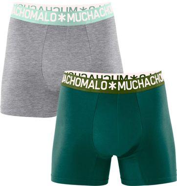 Muchachomalo Boxershorts 2er-Pack Grün Grau