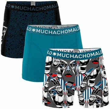 Muchachomalo Boxershorts 3-Pack Blauw