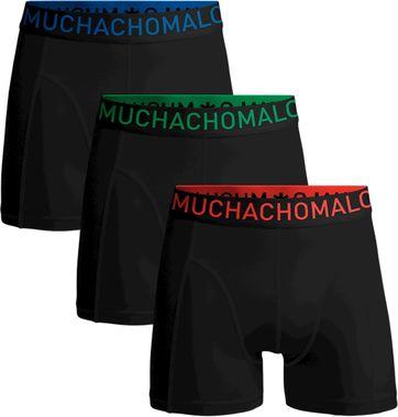 Muchachomalo Boxershorts 3-Pack Schwarz