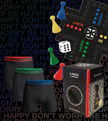 Muchachomalo Boxershorts 3-Pack Zwart