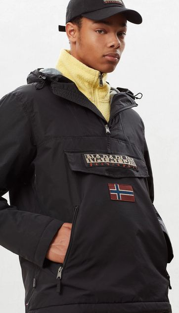 Napapijri Anorak Rainforest Pocket Schwarz