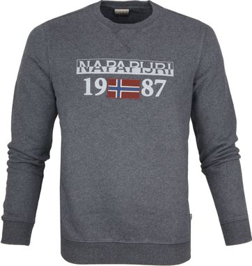 Napapijri Berthow Sweater Dunkelgrau
