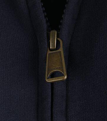 Detail Napapijri Cardigan Bochil Donkerblauw
