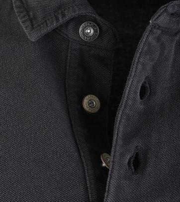 Detail Napapijri Longsleeve Poloshirt Elbas Antraciet