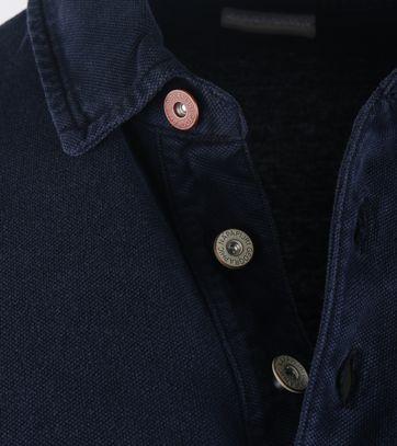 Detail Napapijri Longsleeve Poloshirt Elbas Donkerblauw