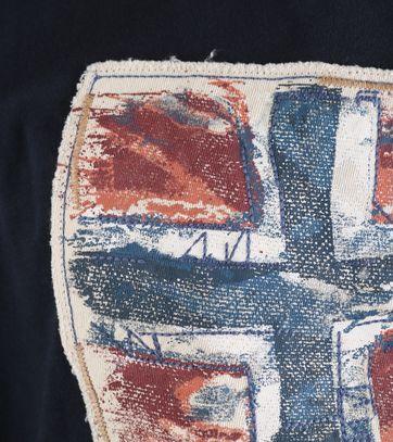 Detail Napapijri Longsleeve T-shirt Donkerblauw