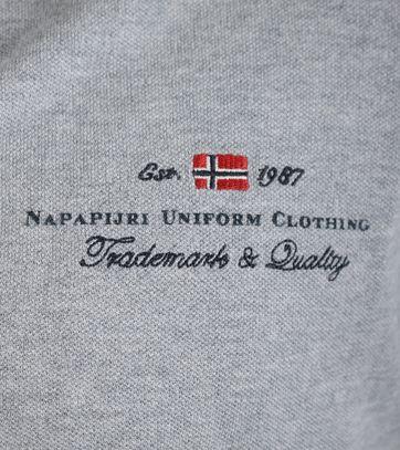 Detail Napapijri Polo Elbas Grijs